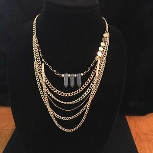 Sugarfix by Baublebar Gray/Gold Necklace NWT